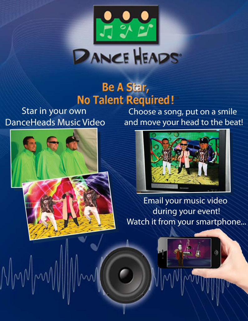 Dance Heads - Flix in Motion - DanceHeads with email social sharing - Northern Calinfornia - Sacramento - Bay Area - San Francisco - Reno - Lake Tahoe - Reno